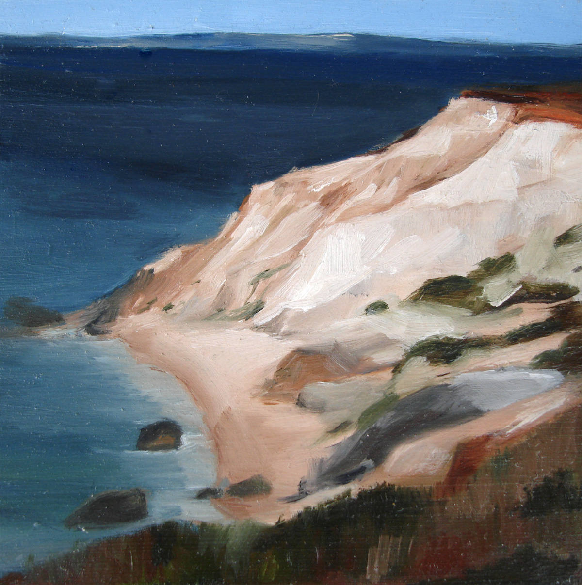 """Clay Cliffs of Aquinnah, Martha's Vineyard"" original fine art by Michael William"