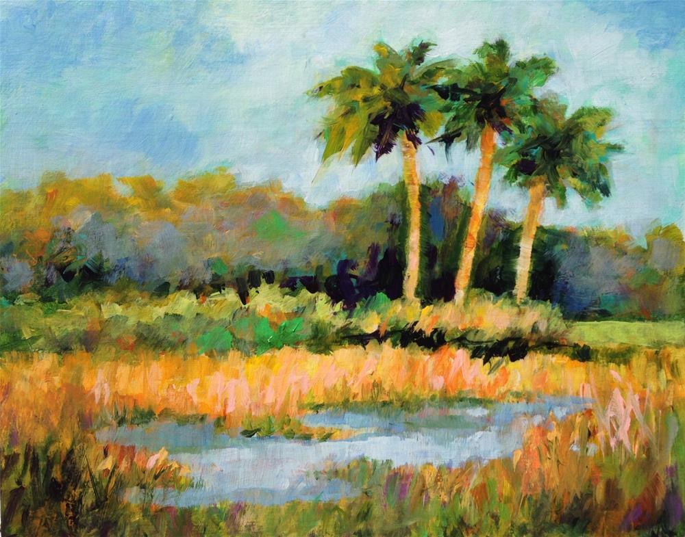 """Golden Marsh"" original fine art by Nancy F. Morgan"