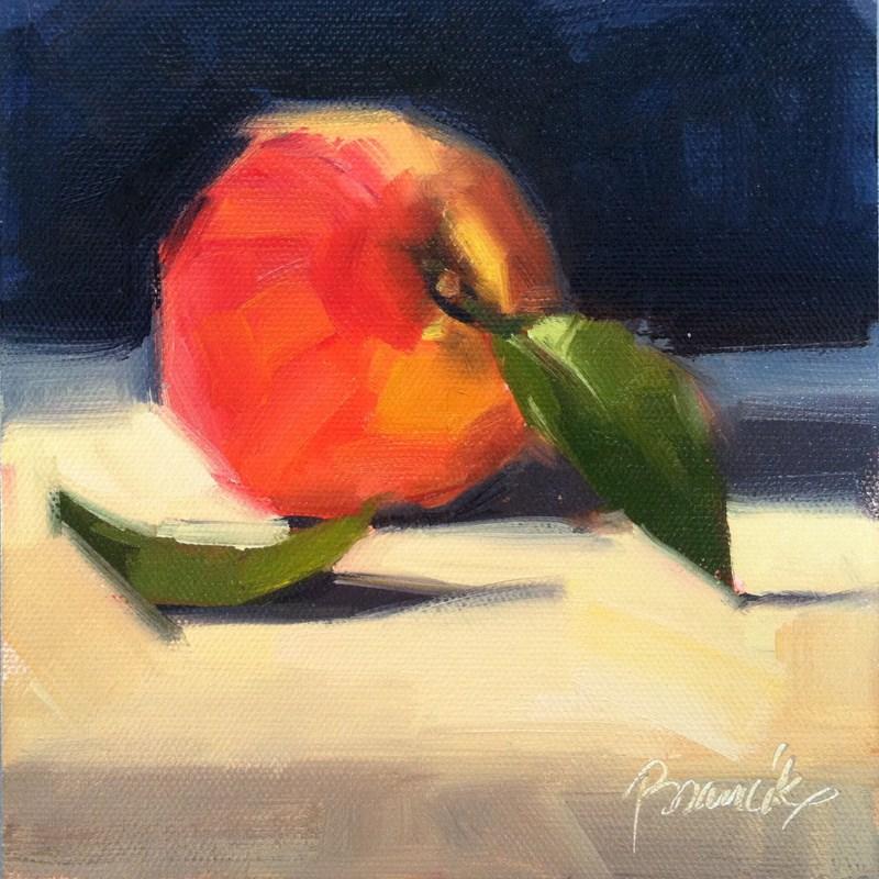 """""""Peach"""" original fine art by Candace Brancik"""