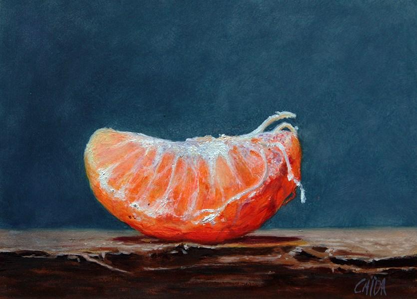 """tangerine slice"" original fine art by Arthur Gaida"