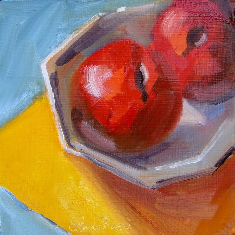 """Two Plums  - 82"" original fine art by Laura  Buxo"