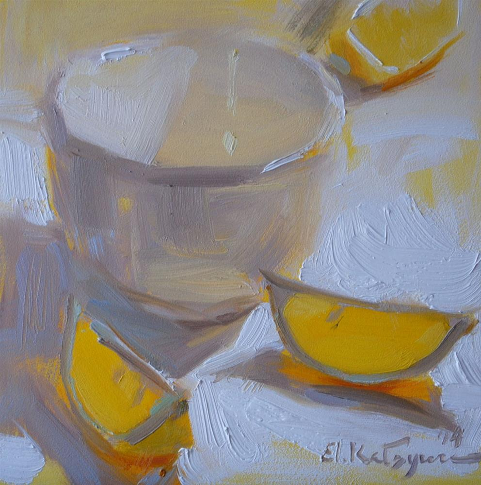 """Lemon in the Light"" original fine art by Elena Katsyura"