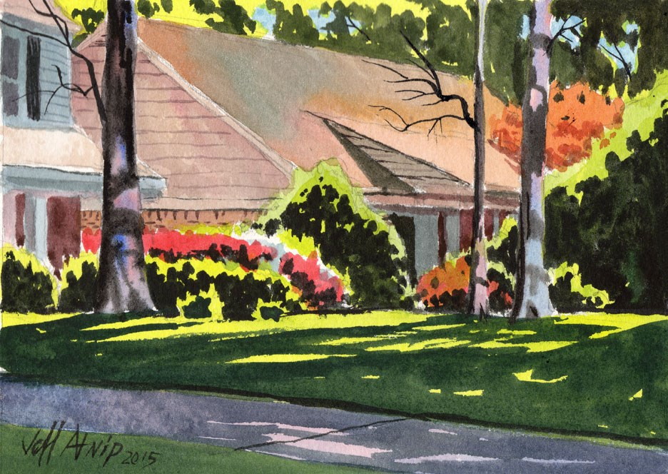 """Azalea Afternoon"" original fine art by Jeff Atnip"