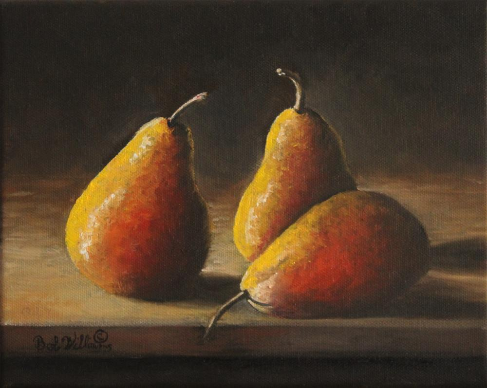 """Dramatic Pears"" original fine art by Bob Williams"