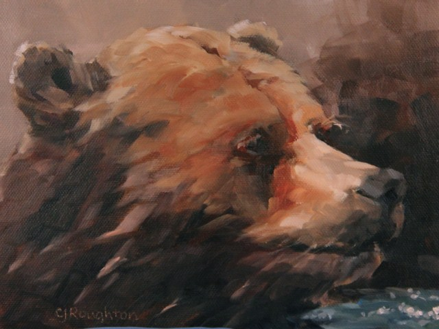 """Life Can Be A Bear"" original fine art by C J Roughton"