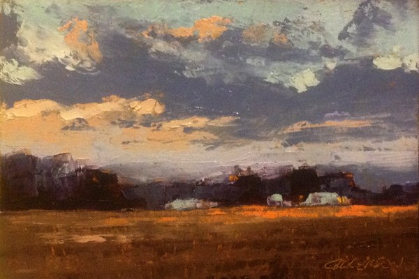"""Winter Twilight"" original fine art by Mary Gilkerson"
