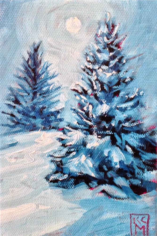 """Magical Moonlight"" original fine art by Kelley MacDonald"