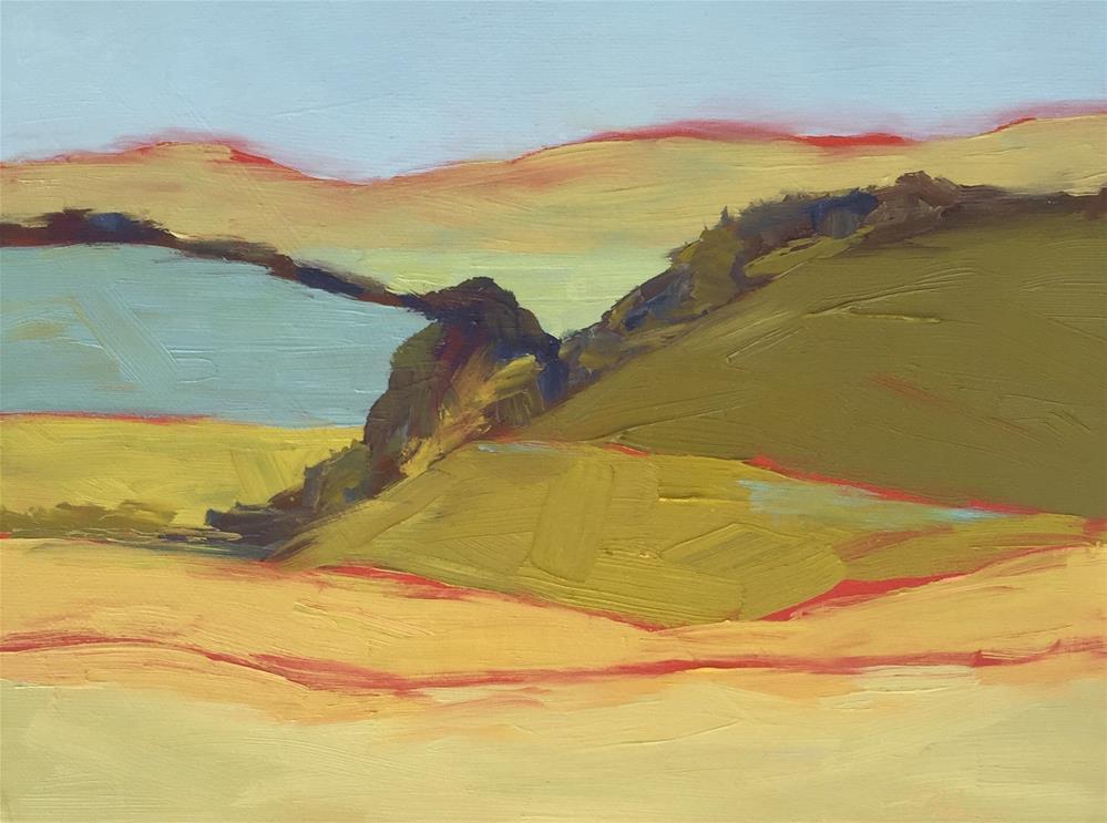 """Los Olivos Hills"" original fine art by Janet Bludau"