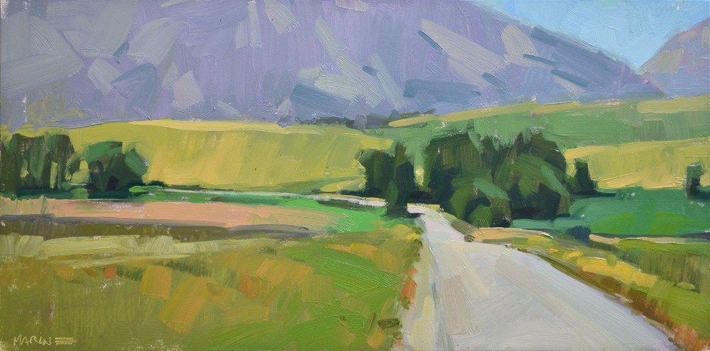 """Wallowa Farmland"" original fine art by Carol Marine"