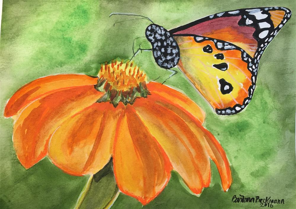 """Butterfly please stay"" original fine art by Barbara Beckmann"