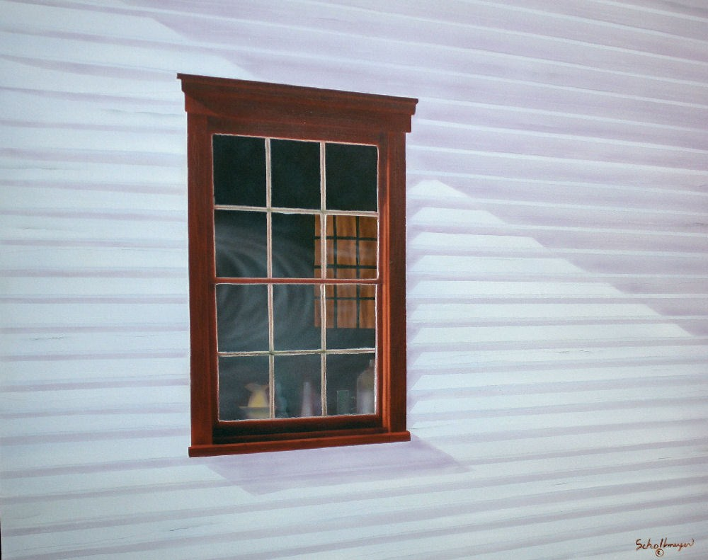 School House Window original fine art by Fred Schollmeyer