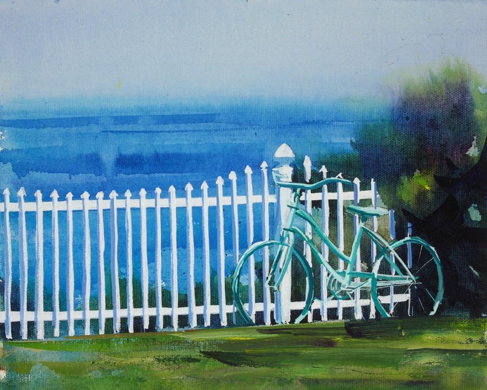 """""""Vintage Bicycle"""" original fine art by Chris  Breier"""
