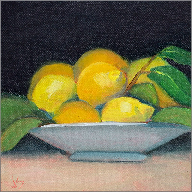 """Lemon Party"" original fine art by Johnna Schelling"