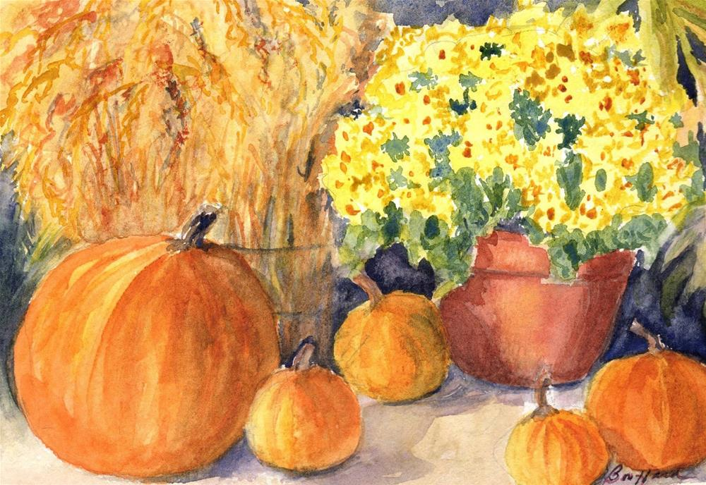 """Fall Festival"" original fine art by Vikki Bouffard"