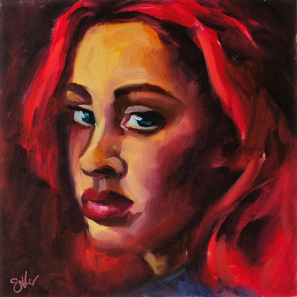 """Scarlet"" original fine art by Janette Harter"