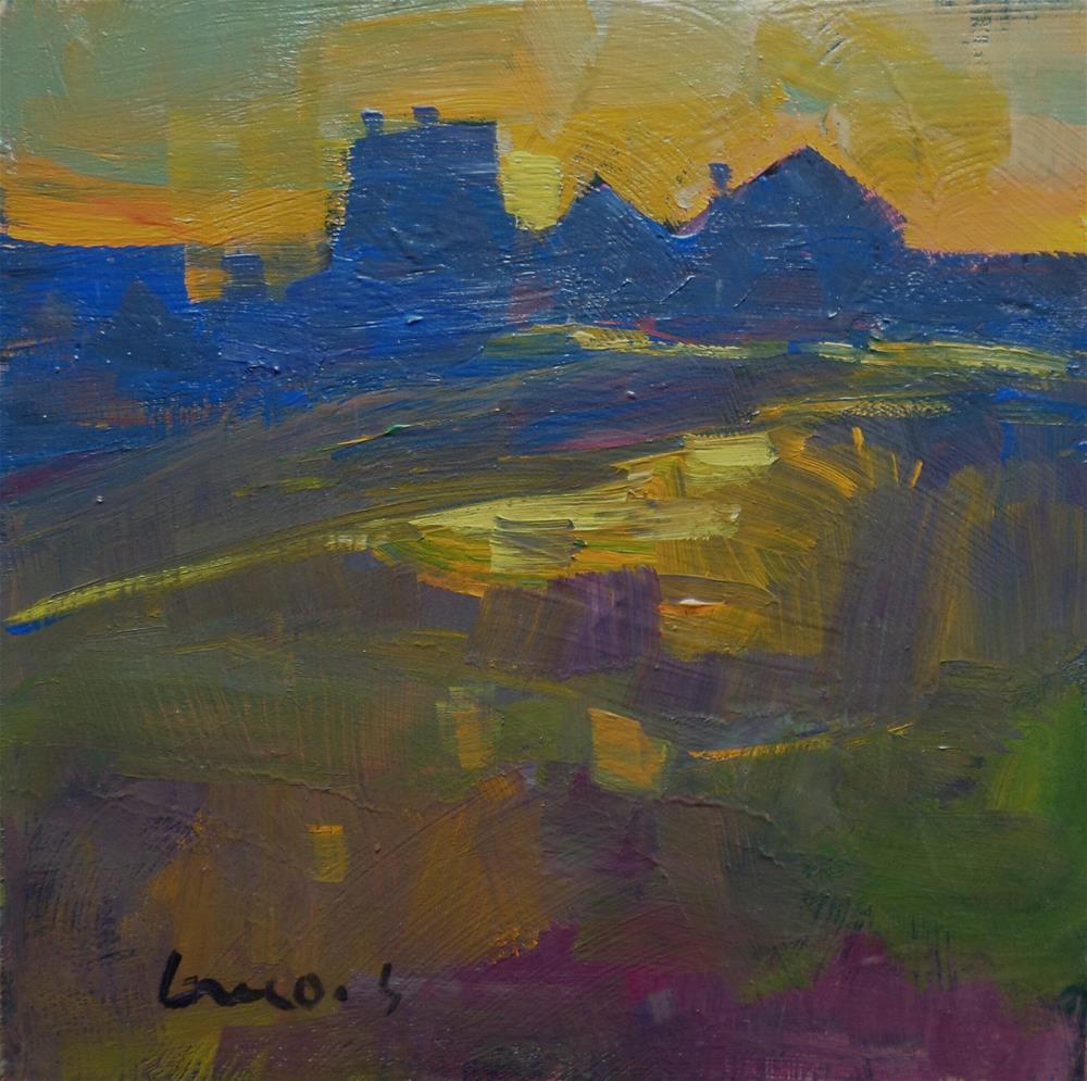 """""""Night in the field Half abstrac"""" original fine art by salvatore greco"""