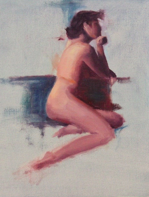 """Figure Sketch"" original fine art by Thorgrimur Andri Einarsson"