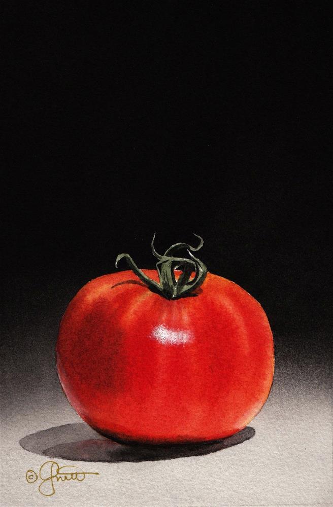 """The Tomato"" original fine art by Jacqueline Gnott, TWSA, WHS"