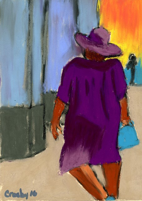 """Struttin It"" original fine art by Donna Crosby"