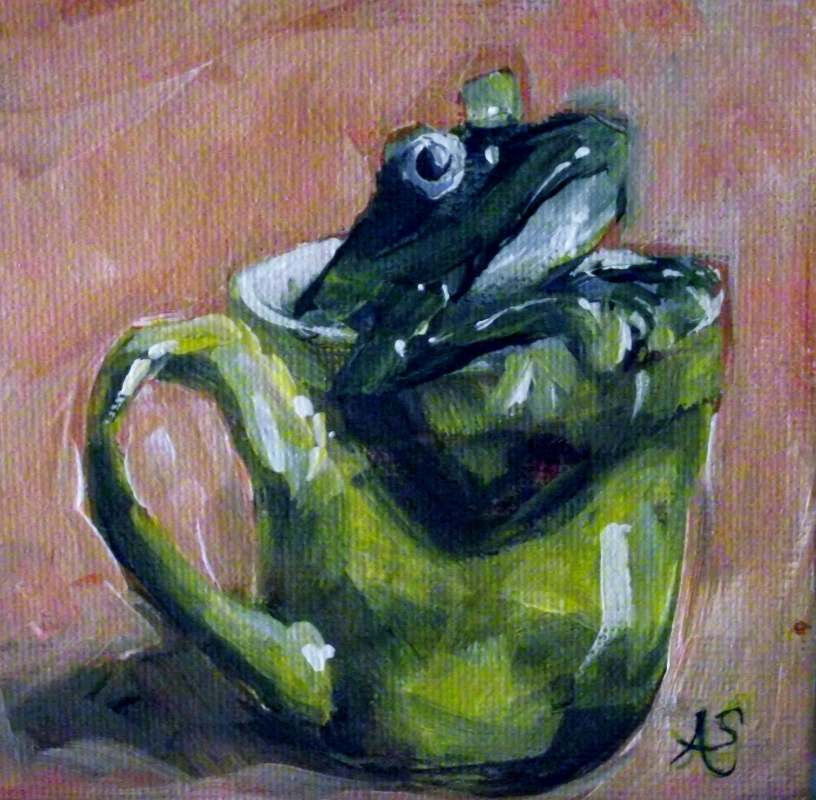 """What's In Your Coffee"" original fine art by Angela Sullivan"
