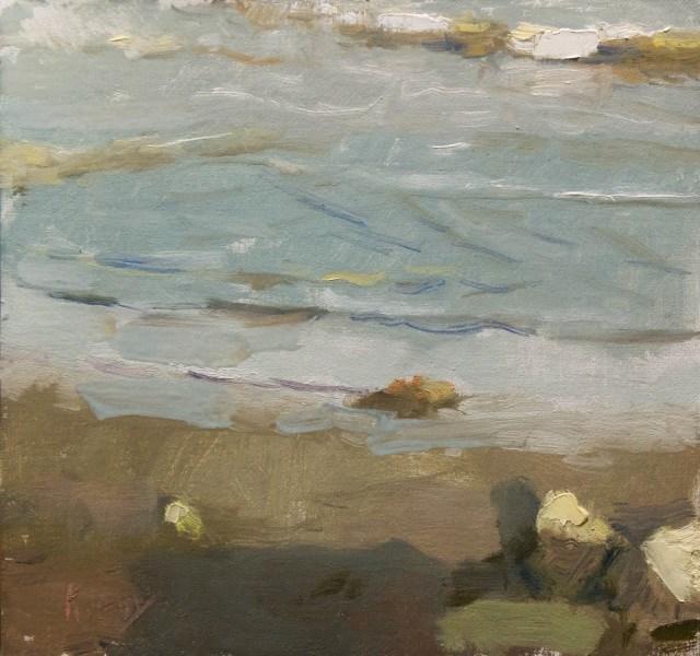 """Evening light on the Beach"" original fine art by Randall Cogburn"