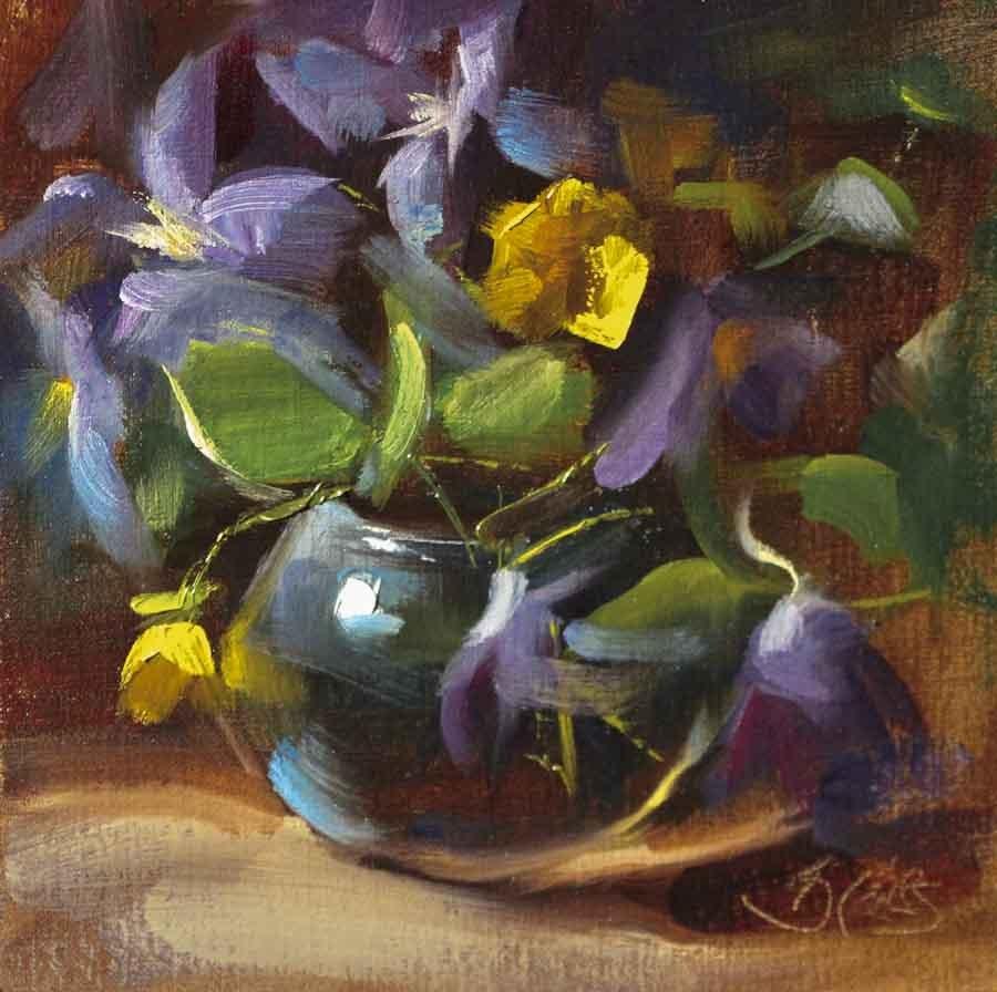 """Late Spring Climbers"" original fine art by Pamela Blaies"