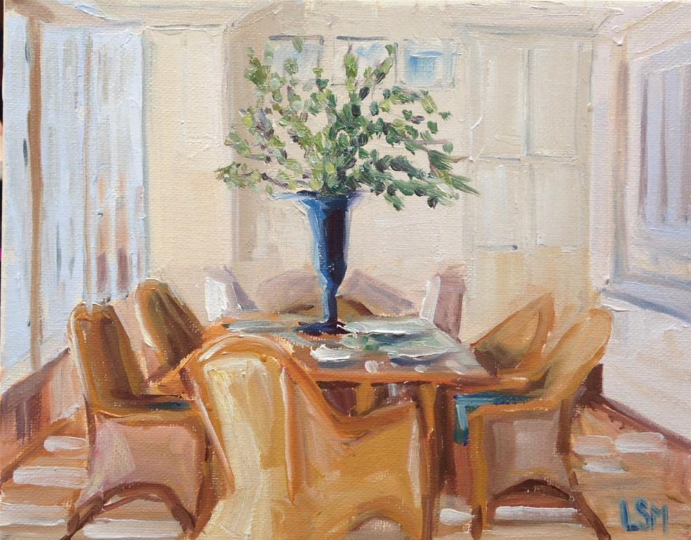 """Dining Light"" original fine art by Linda Marino"