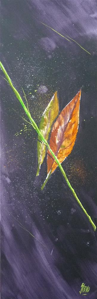 """Leaves and Grass III"" original fine art by Martin Stephenson"