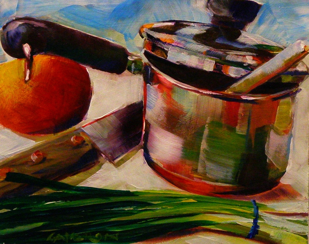 """MAKIN SOUP"" original fine art by Brian Cameron"
