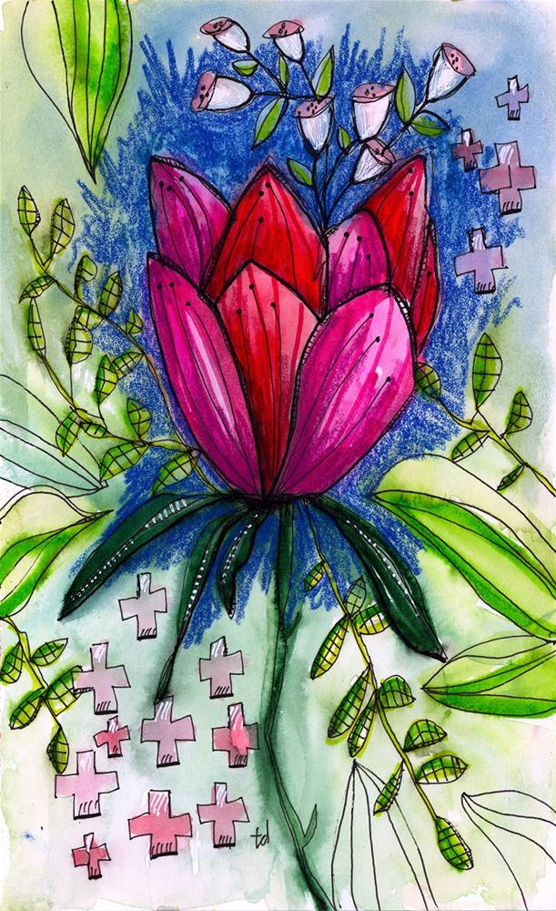 """Lotus"" original fine art by Tonya Doughty"
