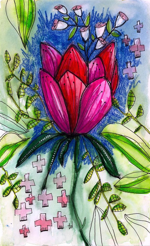 """Lotus"" original fine art by Tonya Doughty"