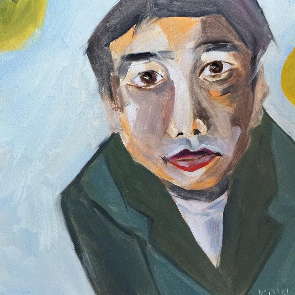 """54 Murakami's Moons"" original fine art by Jenny Doh"