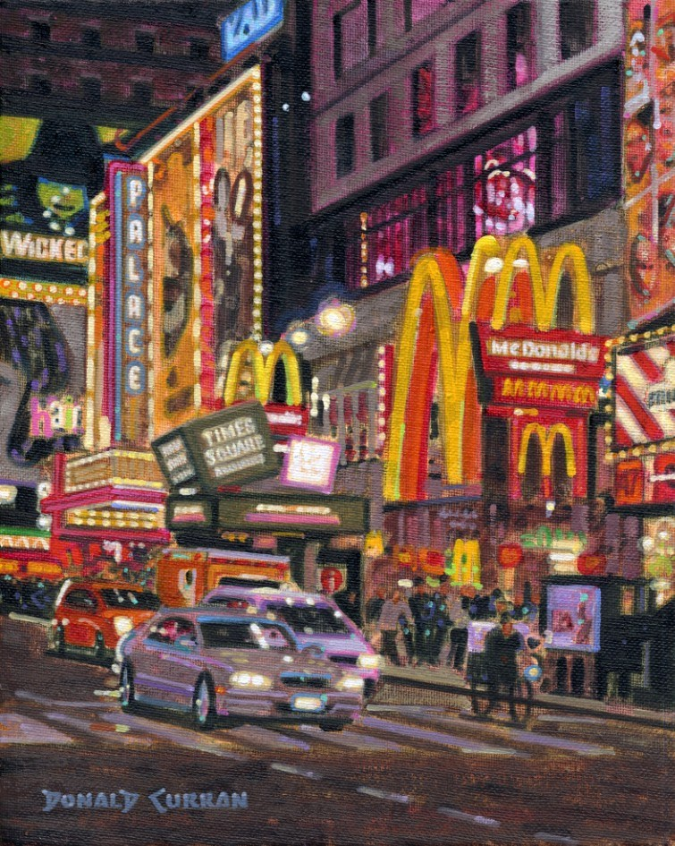 """Times Square"" original fine art by Donald Curran"