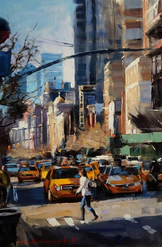 """New York Crosswalk"" original fine art by Jonelle Summerfield"