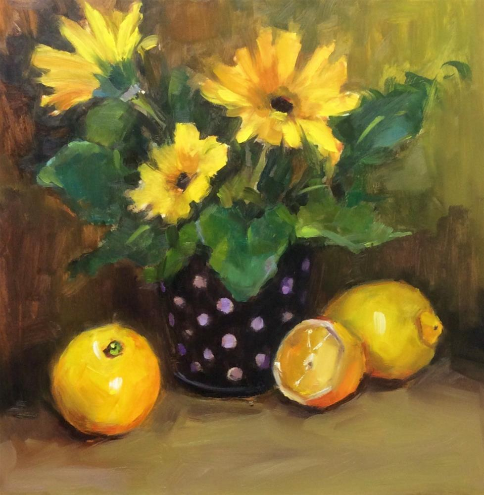 """Sweet Daisies"" original fine art by Laurie Johnson Lepkowska"