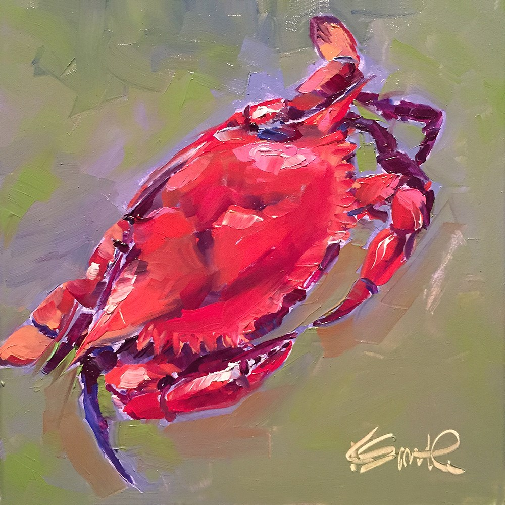 """crab"" original fine art by Kim Smith"