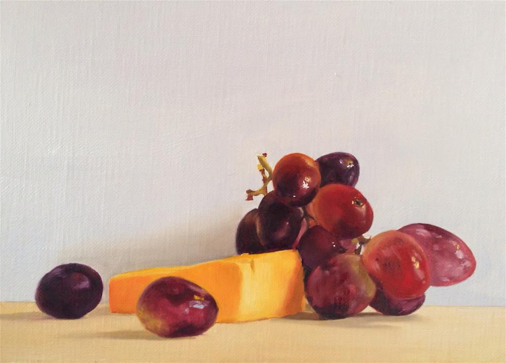 """Grapes and Cheese"" original fine art by James Coates"
