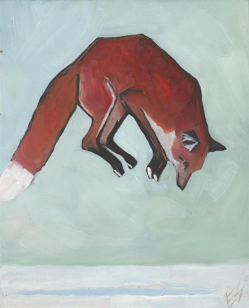 """Fox Jump "" original fine art by Elizabeth See"