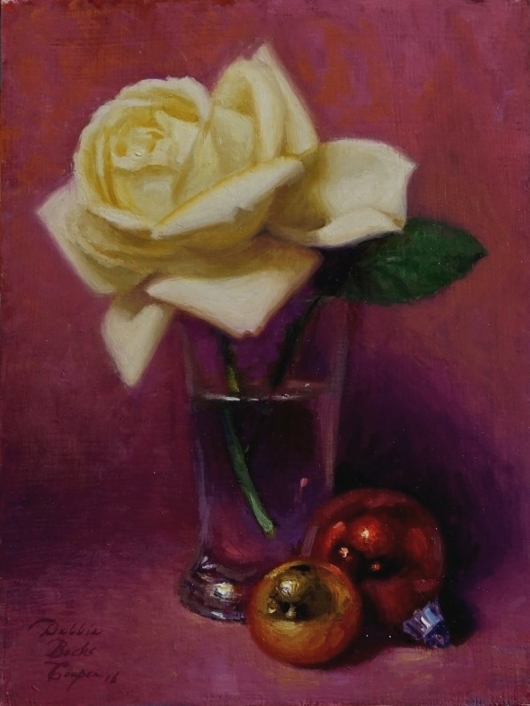 """December Rose"" original fine art by Debra Becks Cooper"