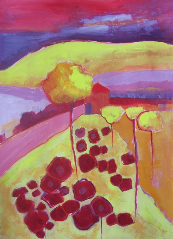 """Poppy Field III"" original fine art by Patricia MacDonald"