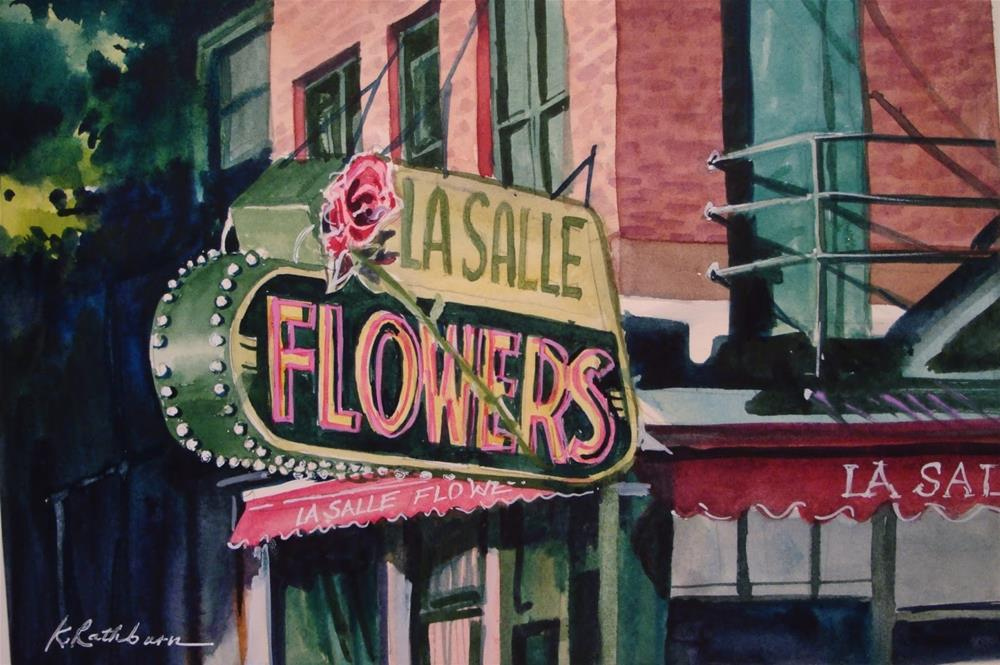 """LaSalle Flowers"" original fine art by Kathy Los-Rathburn"