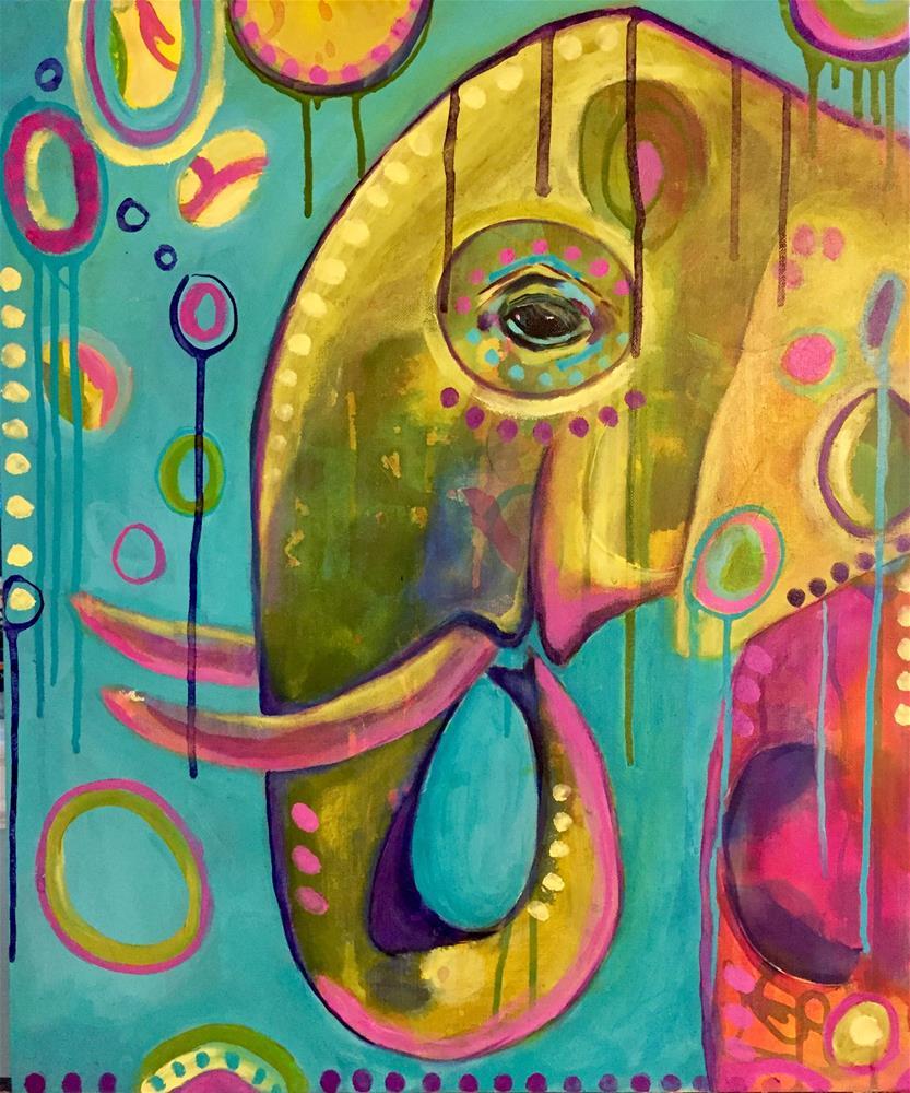 """#80 Freedom "" original fine art by Silke Powers"