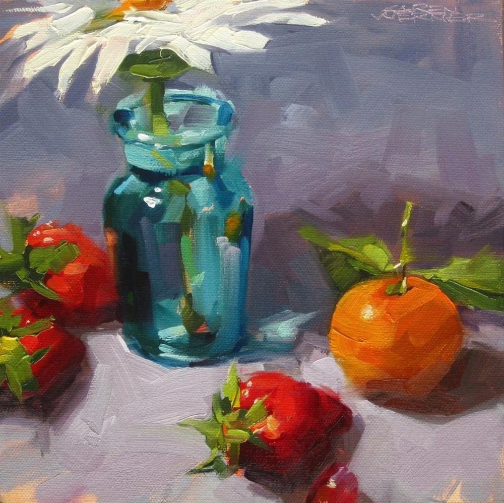 """Fruit & Flower"" original fine art by Karen Werner"