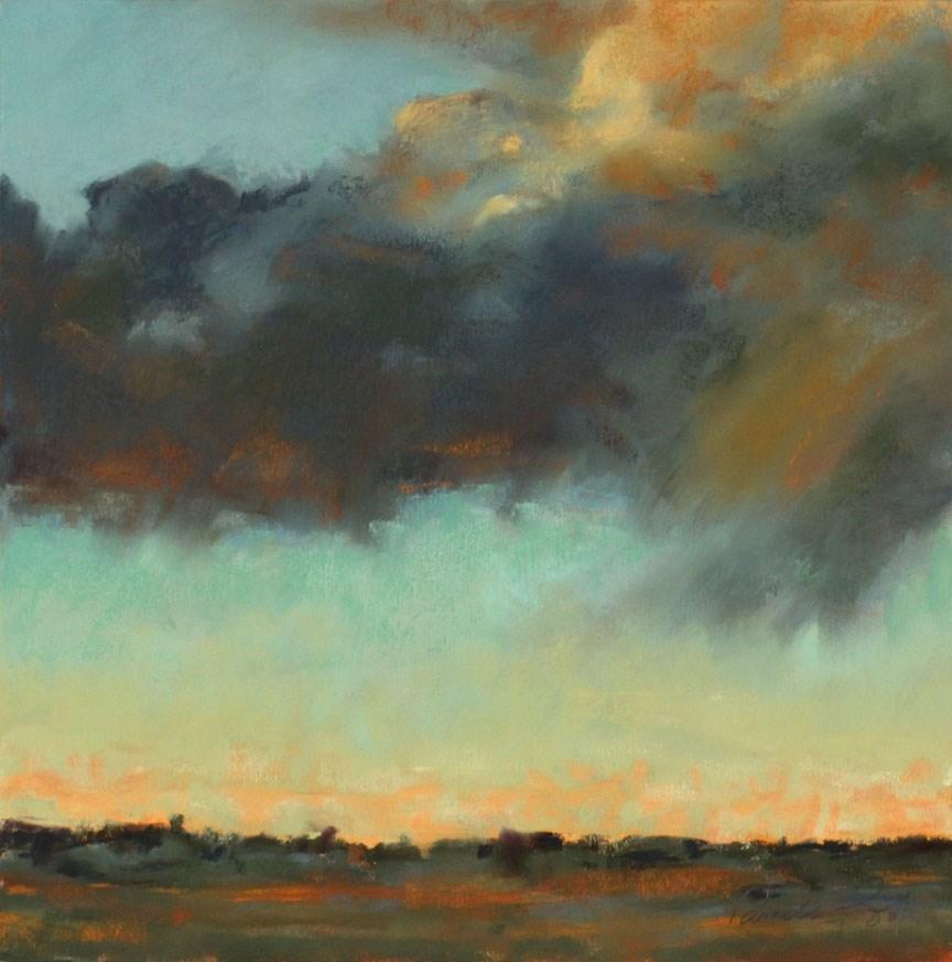 """""""Beautiful Storm (framed)"""" original fine art by Pamela Poll"""