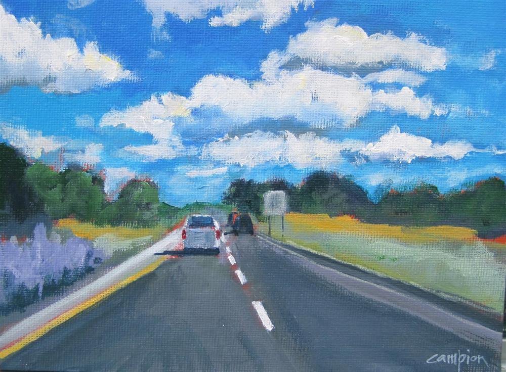 """148 On the Road Again"" original fine art by Diane Campion"