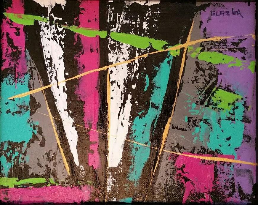 """""""Forest Pathways"""" original fine art by Stuart Glazer"""