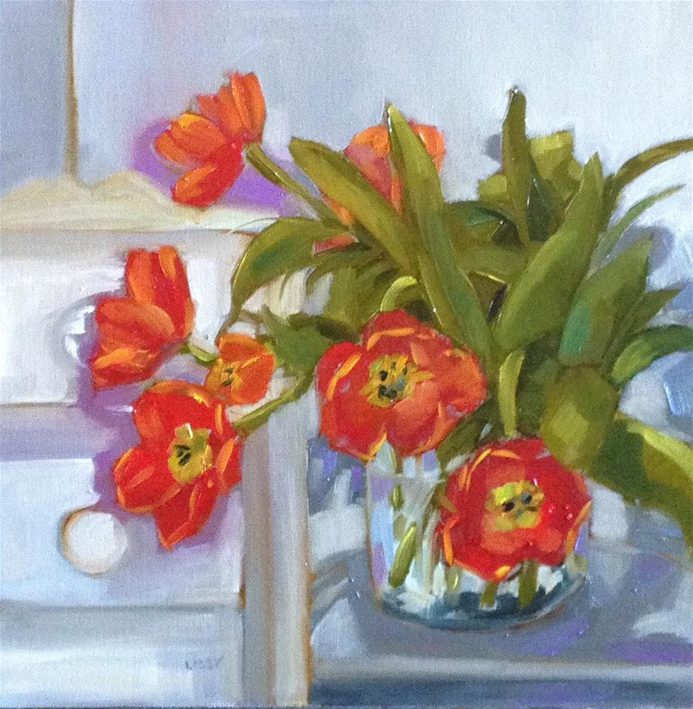 """""""Tulip Lounge"""" original fine art by Libby Anderson"""