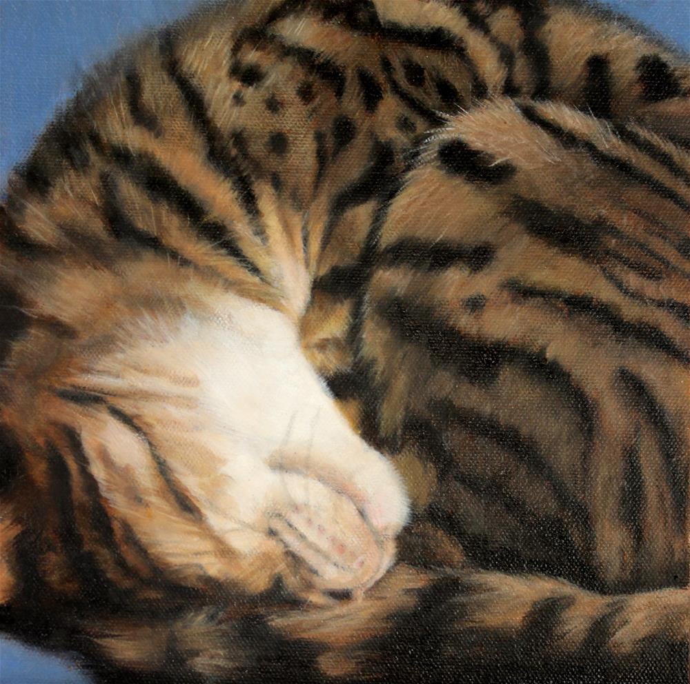 """Juli's Cat Jaron"" original fine art by Joan Carroll"