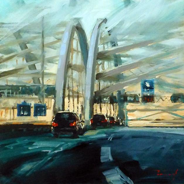 """""""Auf dem Weg nach Rotterdam"""" original fine art by Jurij Frey"""