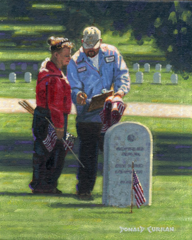 """Honoring Our Heroes"" original fine art by Donald Curran"